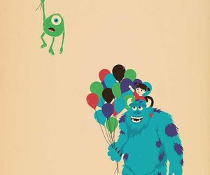disney, mike, and sulley image