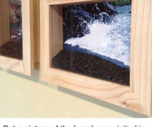 beach, diy, and frame image