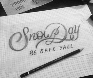 lettering, nyc, and snow image