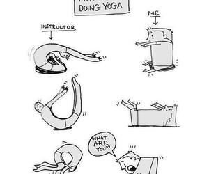 yoga, funny, and lol image