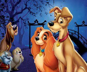 disney and the lady and the tramp image
