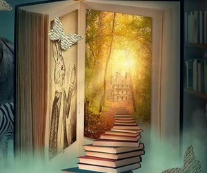 books, imagine, and dreams image