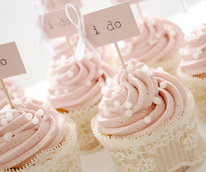 cup cake, pink, and lace image