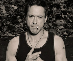 robert downey jr, robert downey jr., and black and white image