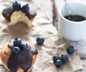 food, blueberry, and chocolate image