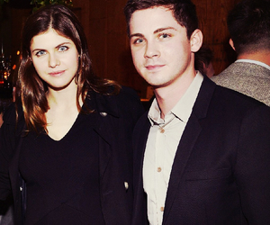 couple, logan lerman, and percy jackson image