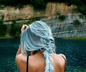 braids, color hair, and hair image