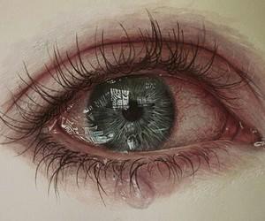 eye, eyes, and sad image