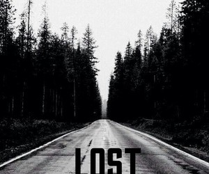 lost, dark, and forest image
