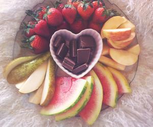 chocolate, fruit, and food image