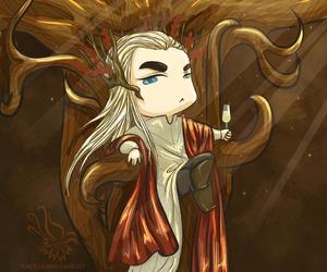 chibi, elven, and illustration image