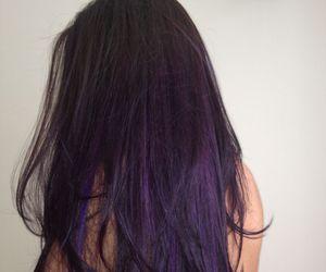 purple, hair, and black image