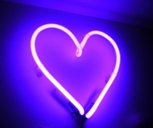 heart, grunge, and neon image
