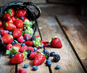 strawberry, fruit, and berries image