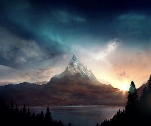 mountain, nature, and scenery image