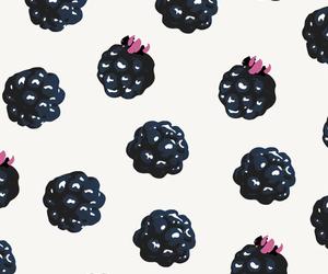 blackberry, illustration, and pattern image