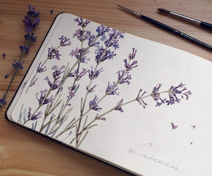 art, lavender, and watercolor image