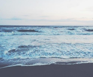 blue, calm, and waves image