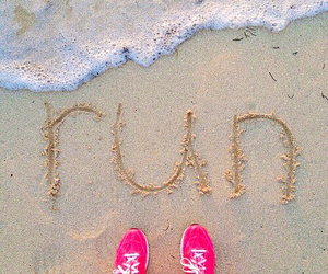 run, beach, and fit image