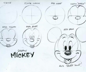 mickey, draw, and disney image