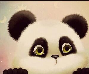cute, art, and panda image