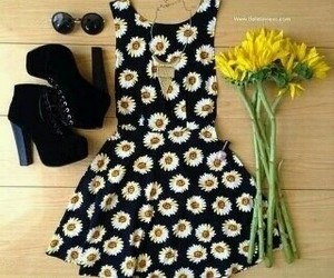 black, dress, and girly image