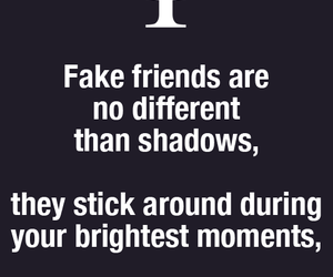 fact, shadow, and fake friends image