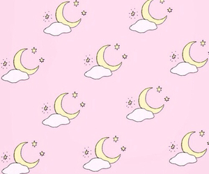pink, background, and moon image