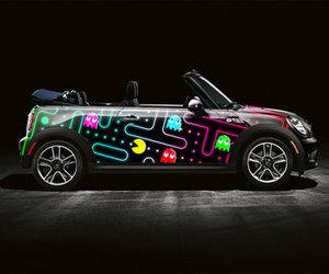 car, pacman, and mini cooper image