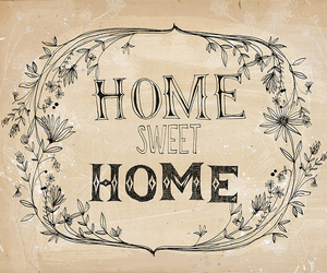 home, sweet, and home sweet home image
