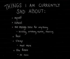 sad, quotes, and school image