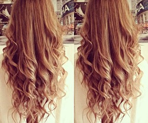 hair, curly, and curls image