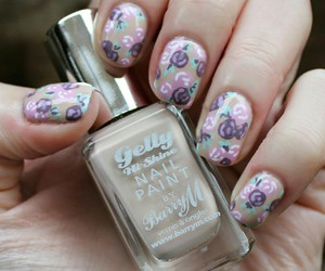 floral, nail art, and notd image