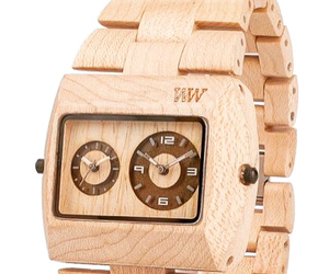 watch, wood, and watches image