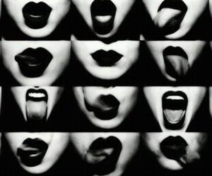 lips, red, and smoke image