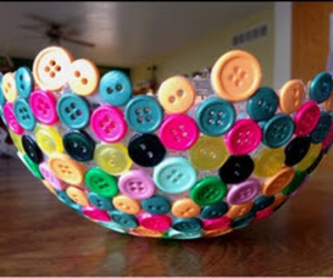 diy, buttons, and bowl image