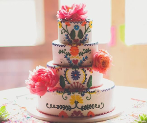 cake, flowers, and mexico image
