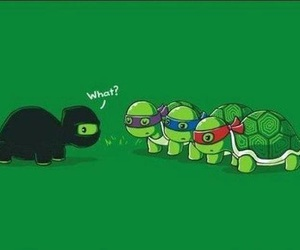 turtle, funny, and ninja image