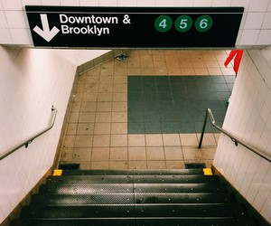 Brooklyn, subway, and new york image