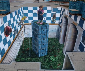 3d, netherlands, and street art image