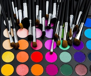 makeup, Brushes, and colors image