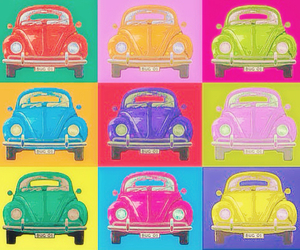 car, colors, and vintage image