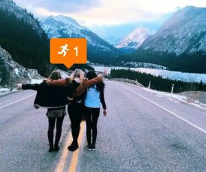 mountains and friends image