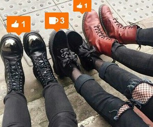 black, shoes, and friends image