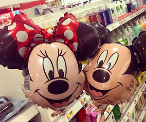 balloons, minnie, and cute image