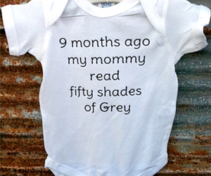 baby and fifty shades of grey image