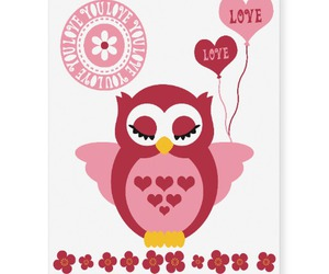 girly, owls, and pink image