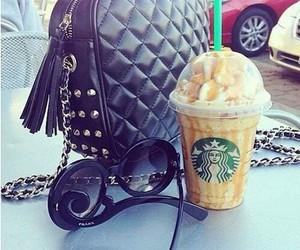 starbucks, bag, and sunglasses image