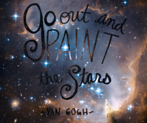stars, van gogh, and universe image