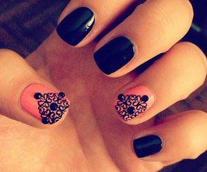 beautiful, black, and nail art image